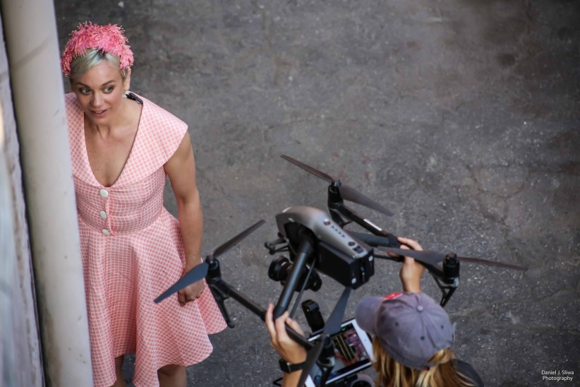 Tonya Kay on the set of The Ascension of Ava Delaine