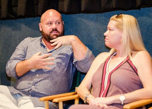 "Director Brock Cravy with the female team of ""Innocent Boy"""